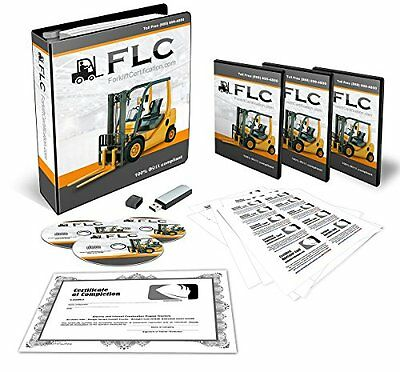 OSHA Compliant Forklift Operator COMPLETE Training Kit With Certificates Of
