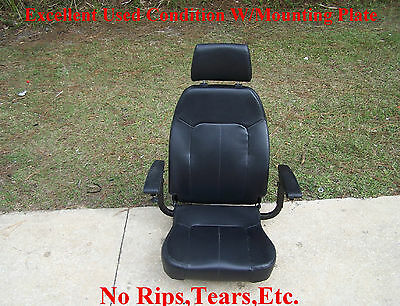 Shoprider Streamer 888WA Power Wheelchair Seat With Arm Rests/Mounting Plate