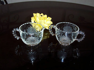 Hughes Cornflower - Early Pre 1943 Cream & Sugar Set