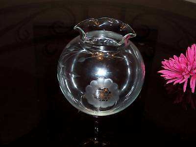 "Hughes Cornflower 5"" Crimped Rose Bowl - Not A Mark !"