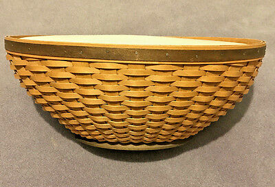 Never used Longaberger Oval Bowl Basket with Lidded Protector