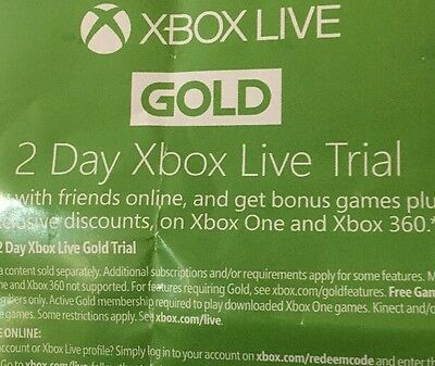 Xbox Live 2 Day Trial