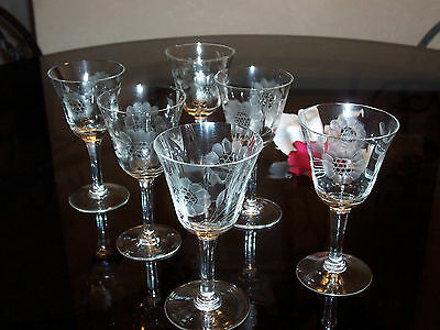Hughes Cornflower - Set Of 6 Fluted Liquor Glasses
