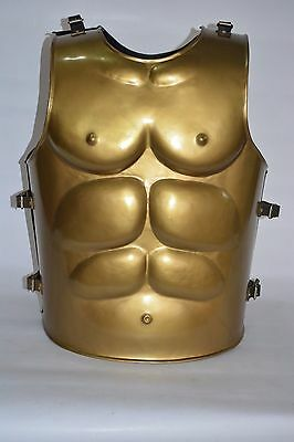 """COLLECTIBLE Muscle Armour_GREEK MUSCLE~ARMOR W/H GREEK_HELMET~GOLDEN COLOR""""../"""