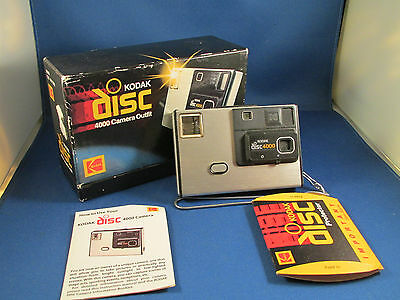 Vintage 1980s Kodak DISC 4000 Camera Outfit in Original Box Untested