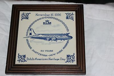 Klm Royal Dutch Airlines Heritage Day Ams-Jfk Service~ Rare~Ships From Usa