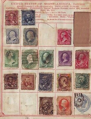 USA US 10c Jefferson  +++ messy early Album Page Scans Used