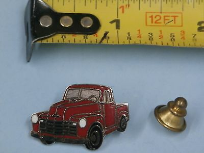 1947-53 Chevrolet Truck vintage hat pin lapel pin tie tac collector button Red