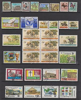 Tanzania - Collection of 54 stamps on 2 pages