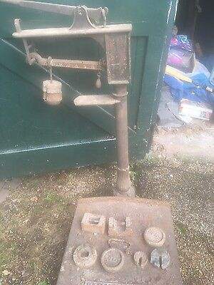 Vintage Industrial Platform Weighing Scales by W&T Avery of Birmingham
