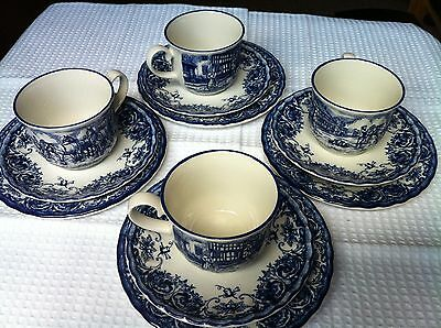 Set of 4 Staffordshire Tablewear cups and saucers