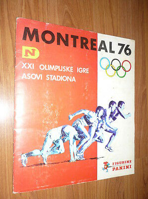 Montreal 76 Complete Stickers Album Olympic Games Panini