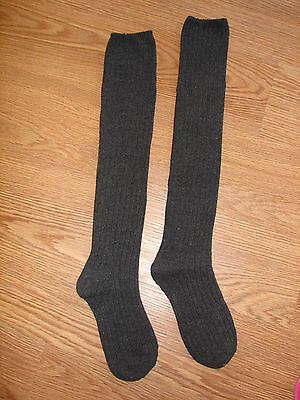 Women's Winter Cable Knit Over Knee Long Boot Sock Leggings One Size