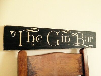 The GIn Bar Sign Gin and Tonic BBQ  Party Gift Vintage Look Old GARDEN Pub Gift