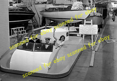 """Photo - Hovercraft """"Hoverbout"""", International Boat Show, London, 1963"""