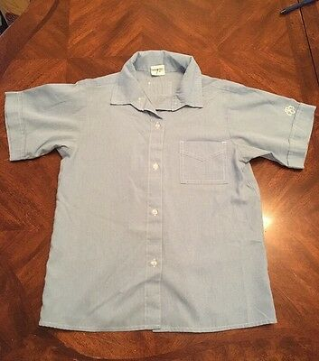 GIRL SCOUT Brownie Shirt Blouse Short sleeve Size 12 #1284