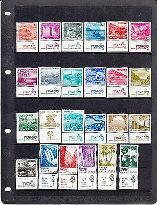 Israel selection of unmounted MNH mint full tab  Landscapes stamps # 4