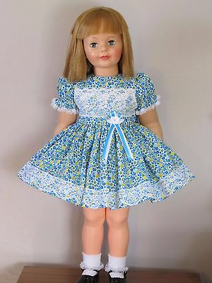 """Pretty Blue Floral Dress For 35"""" Patti Playpal Doll Clothes"""