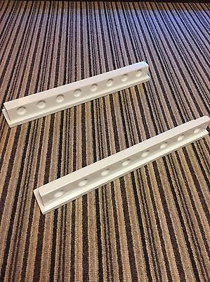Pool Cue Snooker Cue Wall Holder Gloss White Finish