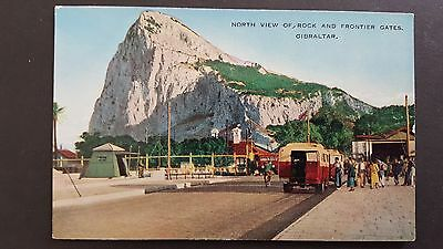 Postcard : North View Of Rock And Frontier Gates Gibraltar