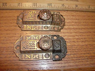 Eastlake Victorian Cabinet Door Lock Very Ornatly Decorated Two Inch Pair4Sale