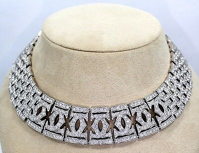 CARTIER Necklace 18K White Gold 56.73CT Diamond All Factory Rare *MINT CONDITION