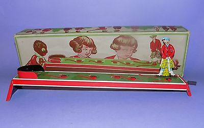 * RARE * VINTAGE * 1960's * WEST GERMANY * BOXED TINPLATE GOLF PUTTING GAME *