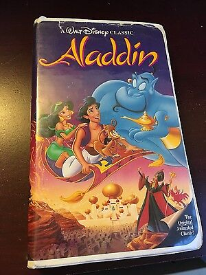 Walt Disney Aladdin VHS (1992) - RARE Black Diamond Edition
