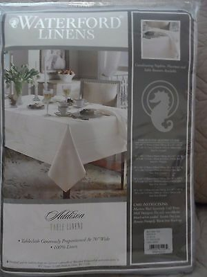 Waterford Linens Addison 100% Linen Tablecloth in Light Blue