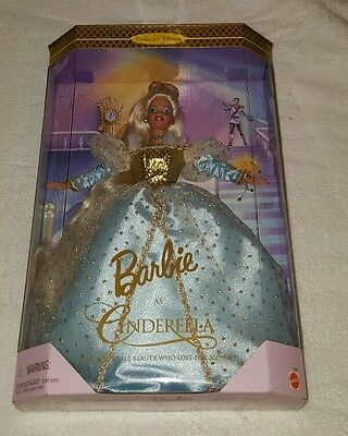 Brand New 1996 Collector Edition Barbie as Cinderella Doll Mattel 16900