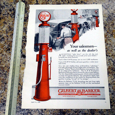 Gilbarco G&B T176 Visible Gas Pump Color Magazine Ad - 91 - FREE SHIPPING