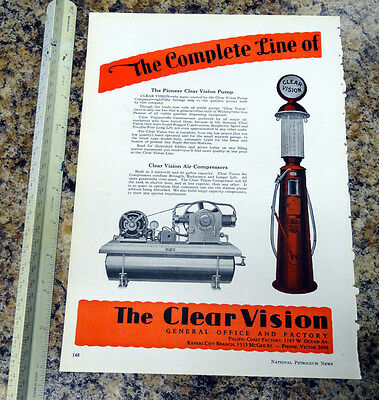 Clear Vision Pump Co Visible Gas Pump Color Magazine Ad - 146 - FREE SHIPPING