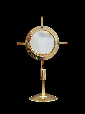 Ostensorio dorato lucido shiny Monstrance gilded ostensoir Monstranz monstrancja
