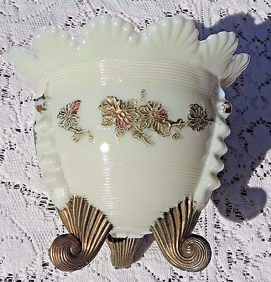 Antique Victorian Northwood Glass Company Opaque Custard Glass Footed Spooner