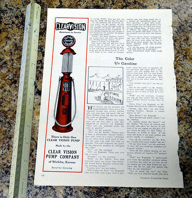 Clear Vision Pump Co 10 Visible Gas Pump Color Magazine Ad - 98 - FREE SHIPPING