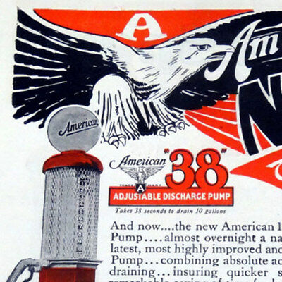 American 38 Visible Gas Pump Color Magazine Ad - 184 - FREE SHIPPING