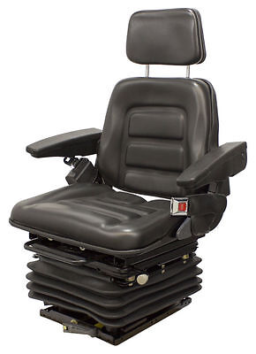 Universal Mechanical Vinyl Seat For Loaders, Backhoes, And Construction Cat #hb