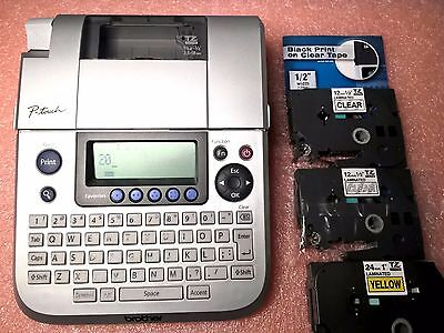 Brother P-Touch PT-1830 Label Maker Thermal Printer bundle with 3 tapes