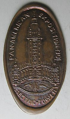 1901 Buffalo N.Y. PAN-AMERICAN EXPOSITION Electric Tower Elongated Cent