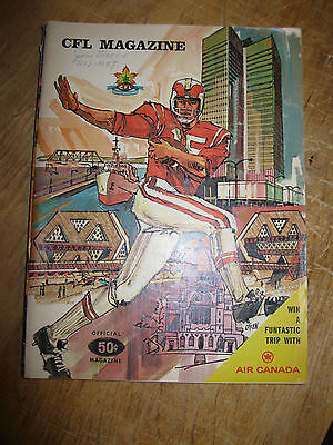1968 CFL Magazine - Ottawa vs Toronto - November 23rd, 1968
