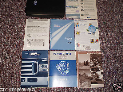 2005 Ford F250 350 450 550 Super Duty 6.0 Diesel Truck Owners Manual Books Case