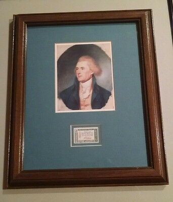 Thomas Jefferson 4 cent American Credo with Picture Framed Beautifully U.S.A.