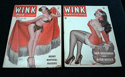 2 Wink A Fresh Magazine From The Late 40's Peter Driben Pin Up Covers.
