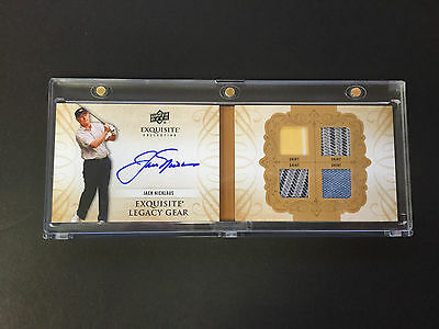 2013 UD Exquisite Jack Nicklaus 8/25 Legacy Gear Auto Quad Golf Shirts Booklet
