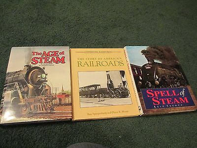 Lot of 3 excellent  Railroad Books Age Of Steam Spell Of Steam Americas Railroad