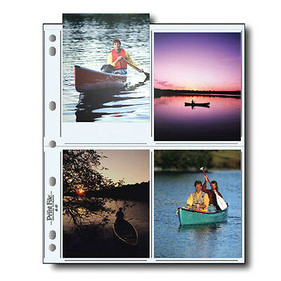 """50x PRINT FILE 4 x 5"""" Prints Photo Pages Sleeves Clear Archival 45-8P i"""
