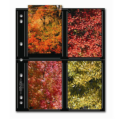 """50x PRINT FILE 3.5 x 5"""" Photo Pages Sleeves Clear Archival BLK 35-8S  i"""