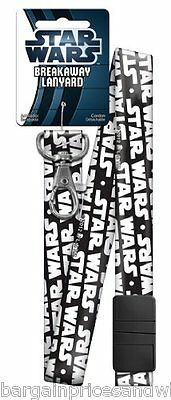 Licensed Star Wars Neck Lanyard LOGO Keyring ID Holder Phone Strap