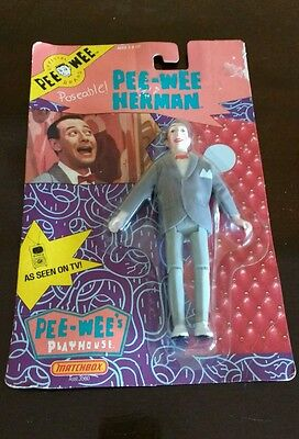vintage matchbox pee-wee herman action figure/doll still sealed in box