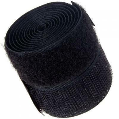 1 Inch x 1 Yard Black Sew-On Hook and Loop Tape for DIY Craft Accessory